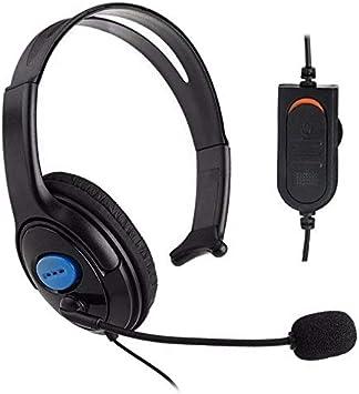 Cascos Auriculares con micrófono para playstation4 ps4 PC Ordenador Gaming Cab: Amazon.es: Electrónica