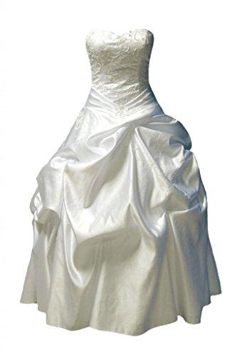 Basque Waist Dress - DaisyFormals Fabulous Sweetheart Luxu Taffeta Wedding Dress W/Basque Waistline(WD053)-Ivory