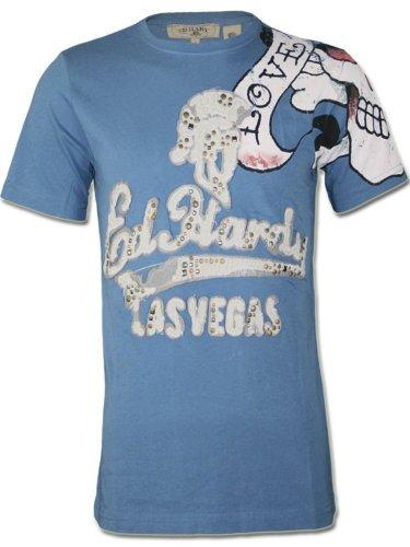 ED HARDY Herren Designer Shirt - LOVE KILLS SLOWLY - KOLLEKTION 2012 -S