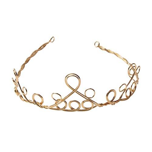 Gold Crown Headband Tiara Girls Woman Fancy Dress Birthday Party Hairband