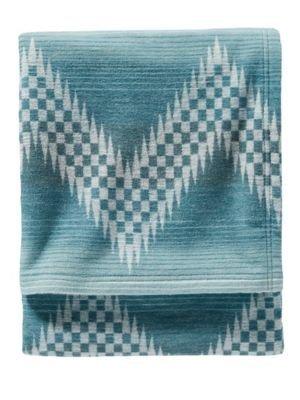 Pendleton Willow Basket Organic Cotton Throw Blanket, River, One Size ()