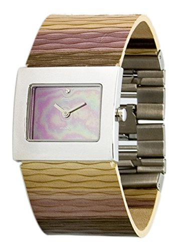 Moog Paris - Sand - Women's Watch with mirror gradual dial, multicolor strap in Genuine leather, made in France - M41511-009