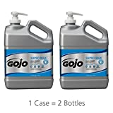GOJO SUPRO MAX Hand Cleaner, 1 Gallon Heavy-Duty Hand Cleaner with Scrubbers Pump Bottles (Pack of 2) – 0979-02