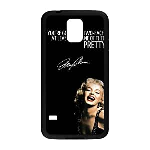 Custom Cover Case with Hard Shell Protection for SamSung Galaxy S5 I9600 case with Marilyn Monroe Quote lxa#902175