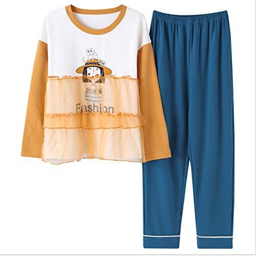 Cotone Servizio Lunghe Pigiama Casa Di Casa Nuovi Pantaloni A Autunno Del A Coreana Maniche Ragazza Di A Tuta Versione Zybnb Servizio xIfB7q4I