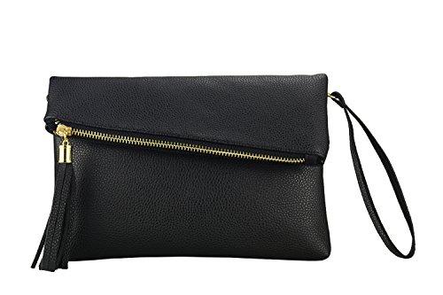 Trendy Tassel Messenger Bag Black - 5