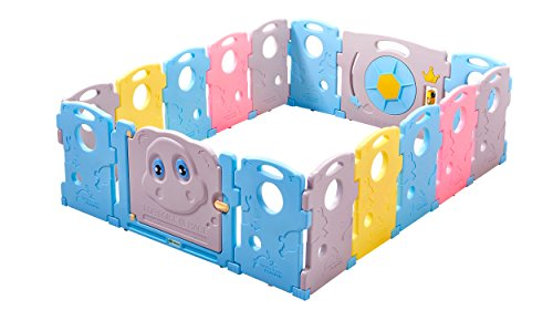 Ndotos Baby Playpen - 16 Panel Safety Playard - Educational Kids Activity Center, Indoor and Outdoor (Tortoise and Hare)
