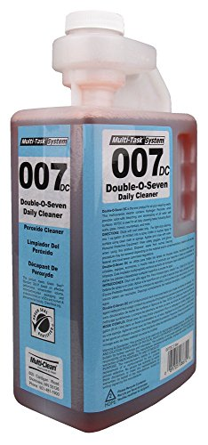 Multi-Clean 908679 007 Double-O-Seven Hydrogen Peroxide Fortified Cleaner Concentrate, Green Seal Certified, Squeeze and Pour Dilution Control (Pack of 4) by Multi Clean