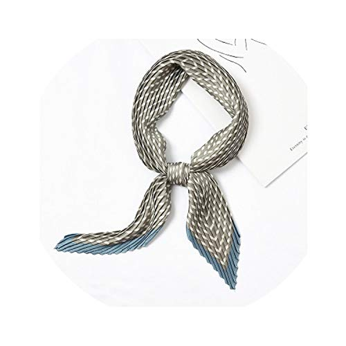 Small Square Satin Scarf Silk Scarf Foulard Femme Elegant Women'S Wrap Handkerchief Bandana Accessories,91