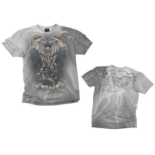 Magistus Rising ' -L- Grey, Vintage T-shirt