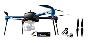 3d Robotics Iris+ Multicopter with 5100mAh 3S 8C Lithium Polymer Battery, Replacement Propeller Set and Jestik 4GB USB Drive Value Bundle with 2x 3S Batteries and Set of Propellers