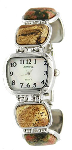 Multi Gemstone Watch (New Gem Stone Fashion Bracelet Watch Inlay Style)