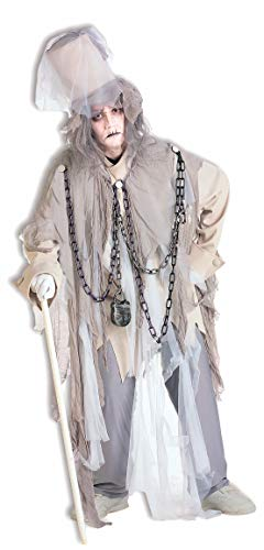 Forum Novelties Men's Jacob Marley The Original Christmas Spirit Costume, Multi, Standard White