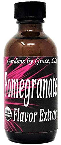 Organic Flavor Extract Pomegranate | Use in Gourmet Snacks, Candy, Beverages, Baking, Ice Cream, Frosting, Syrup and More | GMO-Free, Vegan, Gluten-Free, 2 oz