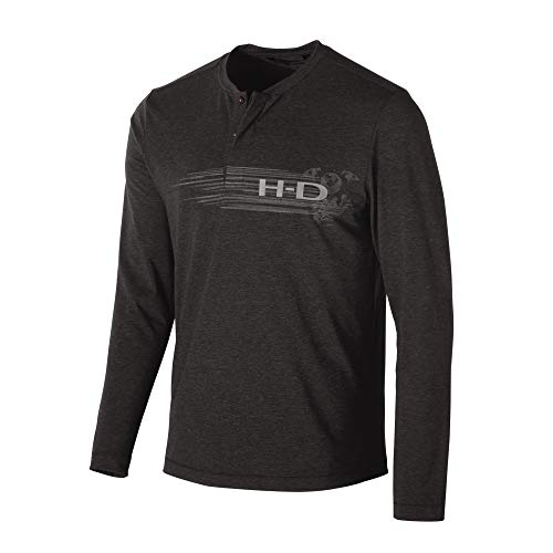 Harley-Davidson Official Men's Merino Wool Blend Slim Fit Henley, ()