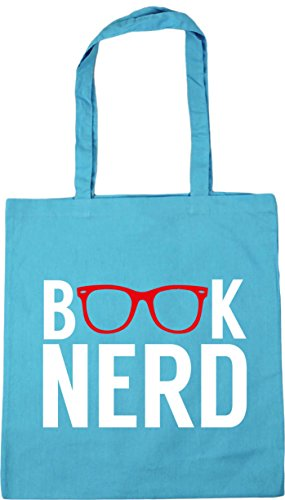 Bag Surf HippoWarehouse litres Blue 10 nerd Gym Shopping Beach x38cm Tote 42cm Book xPPZq41B