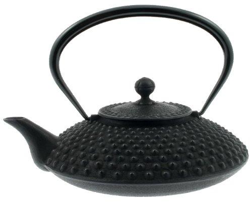 Iwachu Japanese Iron Tetsubin Teapot, Large, Black Hailstone Pattern