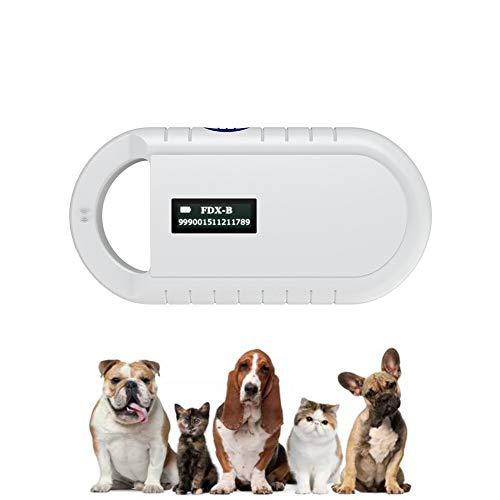 DDZ Pet Microchip Scanner, 134.2kHz ISO11784/ISO11784/FDX-B/EMID RFID Pet Microchip Reader for Animal/Pet/Dog/Cat/Pig