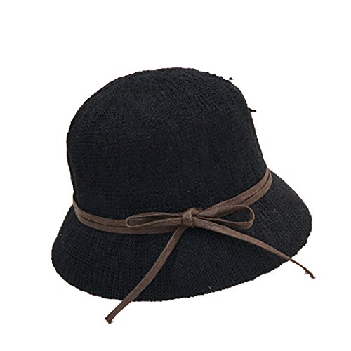(Heart .Attack Fisherman Hat Bow Small Hat Cotton and Linen Adjustable Folding Travel Visor Hat)