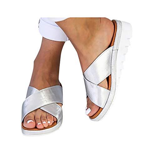 2019 New Women Comfy Platform Toe Ring Wedge Sandals Shoes Summer Beach Travel Shoes Comfortable Flip Flop Shoes