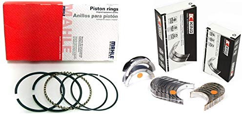 Rod and Main Bearings with Piston Rings compatible with 1967-95 CHEVY SBC 350 5.7 L