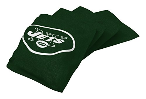 - Wild Sports NFL New York Jets Green Authentic Cornhole Bean Bag Set (4 Pack)