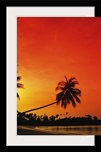 GreatBIGCanvas ''Indonesia, Bintan Island Resort, Beach at Sunset'' by Richard Maschmeyer Photographic Print with Black Frame, 24'' x 36'' by greatBIGcanvas