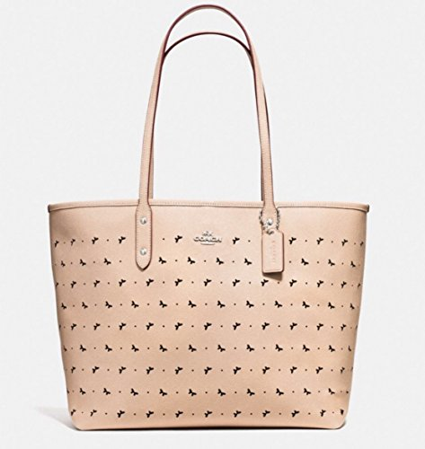 Coach Perf butterfly LTH city Tote in Beechwood Style - Butterfly Coach