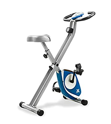XTERRA Fitness FB150 Folding Exercise Bike, Silver (Renewed)