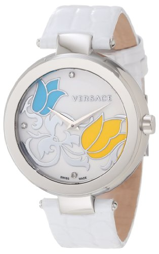 Versace Women's I9Q99SD1TU S001 Mystique Stainless Steel White Leather Enamel Dial - Versace Uk