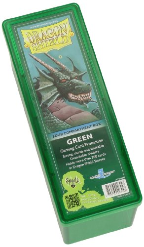 Dragon Shield Four-Compartment Storage Box - Green