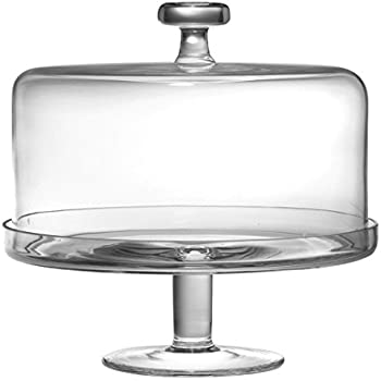 Barski Handmade Glass 2 pc Set  Footed Cake Plate with Dome 12\ H 11\ D (inside dome is 10.25\ D) Clear  Made in Europe  sc 1 st  Amazon.com & Amazon.com | Libbey Selene Cake Dome 2-Piece Set Clear: Cake Plates ...