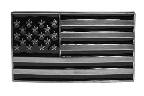 FL102-50MM - Men's Dark Side Black US American Flag Buckle fits 1.5
