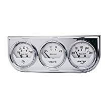 "Auto Meter 2325 Auto Gage Black 2-1/16"" Mechanical Three-Gauge Console"
