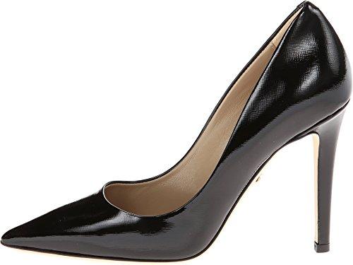 Diane von Furstenberg Women's Bethany Black Saffiano Patent Pump 9.5 B (M)