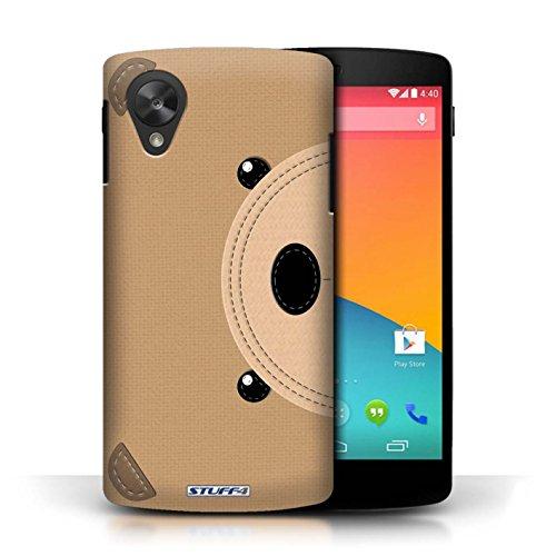 Coque de Stuff4 / Coque pour LG Google Nexus 5/D821 / Ours Design / Cousu des Animaux Effet Collection