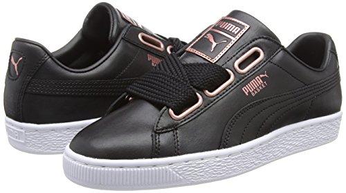 Mujer rose Para Basket Leather 02 Zapatillas Black Negro puma Puma Heart Gold Wn's dYxvXRRw