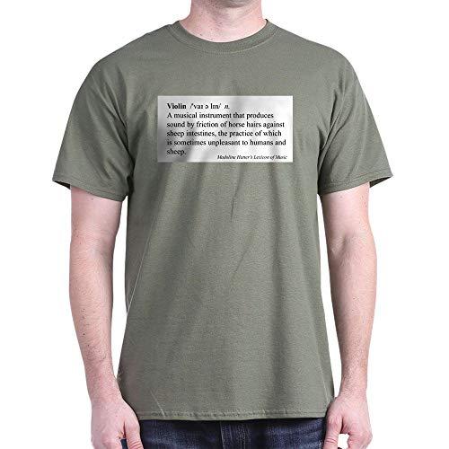 CafePress Humorous Violin Definition T Shirt 100% Cotton T-Shirt Military Green