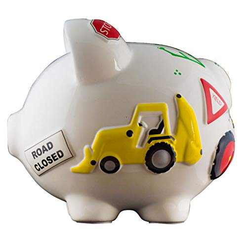 Work Truck Boys Piggy Bank - Large - (Personalized & Custom With Name And Year) (First Financial Toy For Teaching Boys & Girls About Saving Money) (Perfect Unique Gift Idea For Babys 1st Birthday) by HolidayTraditions (Image #5)