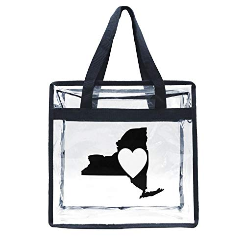 Eoyles gy Clear Bag Stadium Approved 12 X 6 X 12 Crossbody Transparent Purse Shoulder Handbag for Men Women Kiss Heart New York State Zippered Security Bag