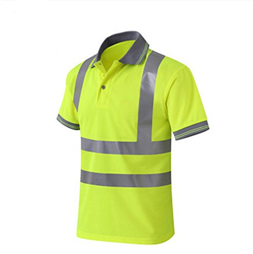 GanDecor Reflective Polo Shirt Safety Top Quick Dry High Visibility Short Sleeve by GanDecor (Image #2)