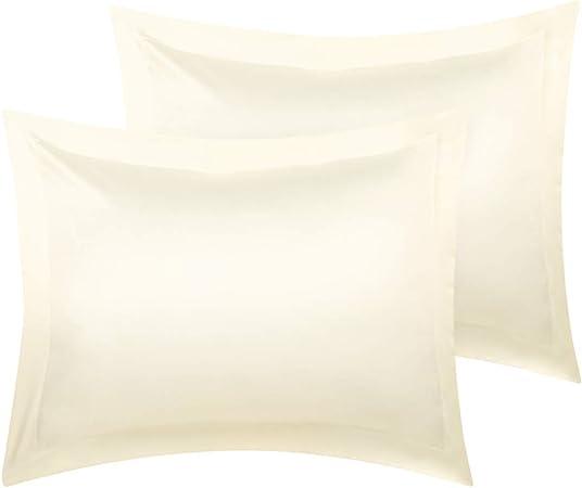 New Satin Pillow case Cover Pillowcase Standard Size Black White Red Purple NWT