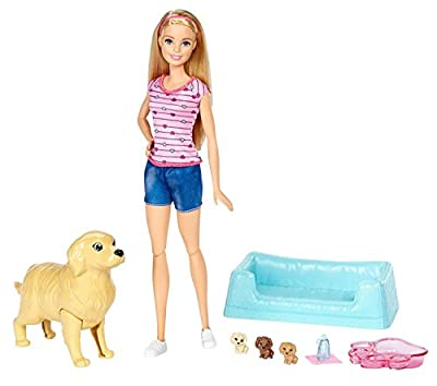 Barbie Newborn Pups Playset Doll by Mattel
