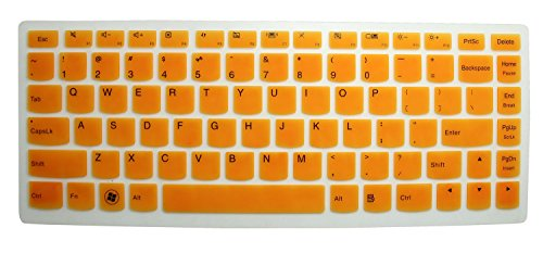 Silicone Keyboard Protector Touch Screen Semi Orange