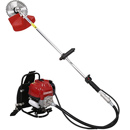 HUKOER 2 in 1 Grass cutter with 4 stroke Gx35 Engine Brush cutter Petrol strimmer Tree Pruner with Bicycle handle by HUKOER