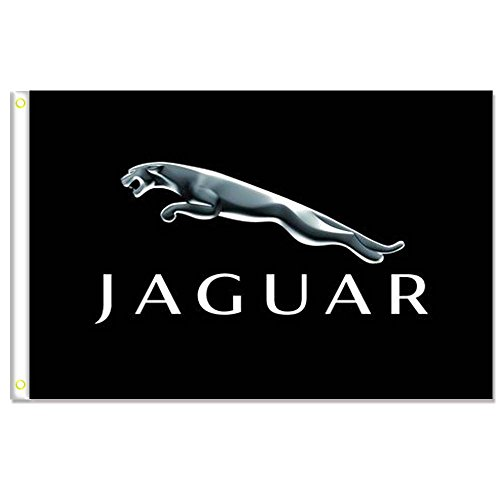 Home King Jaguar Black Flags Banner 3X5FT 100% Polyester,Canvas Head with Metal Grommet