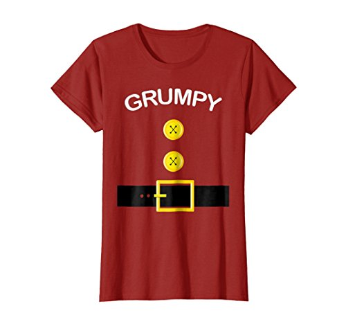Womens Funny Grumpy Thanksgiving Group Costume T Shirt Gift Novelty Medium Cranberry -