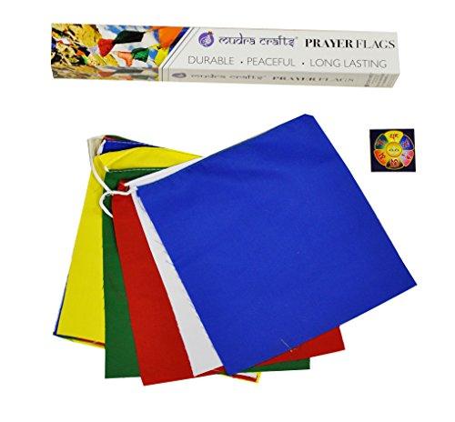 Mudra Crafts Tibetan Buddhist Indoor Outdoor Cotton Affirmation Windhorse Prayer Flags (Blank)