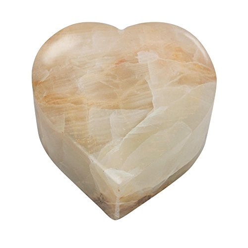 Perfect Memorials White Onyx Heart Stone Keepsake Cremation Urn (Stone Urn Cremation)