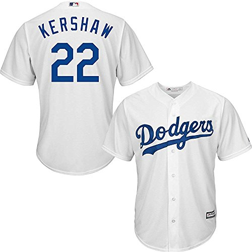 - Majestic Clayton Kershaw Los Angeles Dodgers MLB Youth White Home Cool Base Replica Jersey (Youth X-Large 18-20)